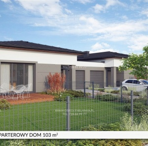 Parterowy dom 103 m²