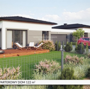 Parterowy dom 122 m²