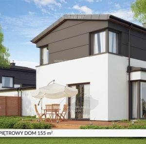 Piętrowy dom 155 m²